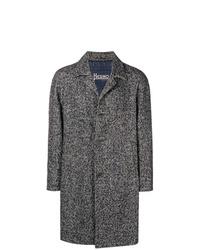Abrigo largo de espiguilla gris de Herno