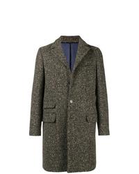 Abrigo largo de espiguilla verde oliva de Eleventy