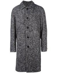 Abrigo largo de tartán gris de MSGM