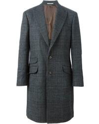 Abrigo largo en gris oscuro de Brunello Cucinelli