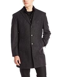 Abrigo largo en gris oscuro de DKNY