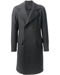 Abrigo largo en gris oscuro de Giorgio Armani