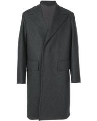 Abrigo largo en gris oscuro de Jil Sander