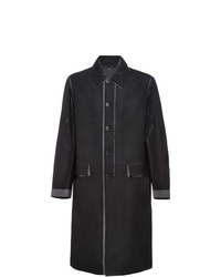 Abrigo largo en gris oscuro de Prada
