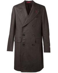Abrigo largo en marrón oscuro