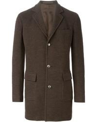 Abrigo largo en marrón oscuro de Eleventy