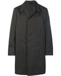 Abrigo largo en marrón oscuro de Jil Sander