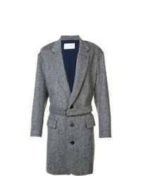 Abrigo largo gris de Julien David