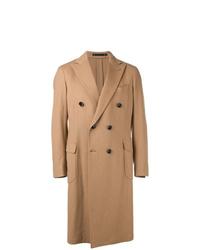 Abrigo largo marrón claro de Bagnoli Sartoria Napoli