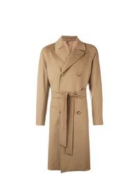 Abrigo largo marrón claro de Caruso