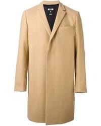Abrigo largo marrón claro de MSGM