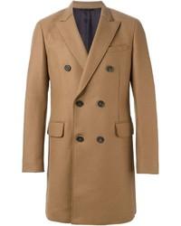 Abrigo largo marrón claro de Paolo Pecora