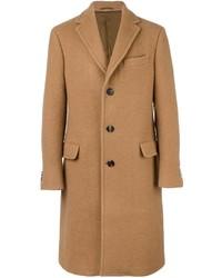 Abrigo largo marrón claro de Salvatore Ferragamo