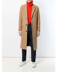 Abrigo largo marrón claro de AMI Alexandre Mattiussi