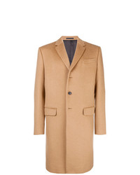Abrigo largo marrón claro de Valentino
