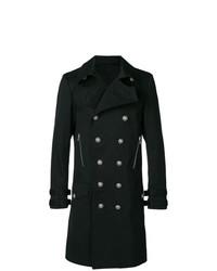 Abrigo largo negro de Balmain