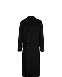 Abrigo largo negro de Burberry