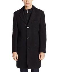 Abrigo largo negro de Calvin Klein