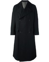 Abrigo largo negro de Giorgio Armani
