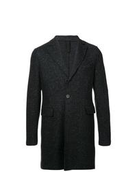 Abrigo largo negro de Harris Wharf London