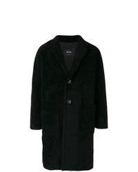 Abrigo largo negro de Hevo