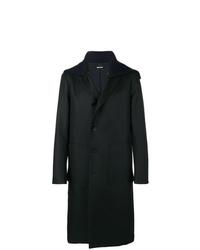 Abrigo largo negro de Jil Sander