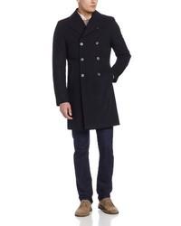 Abrigo largo negro de Kenneth Cole New York