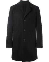 Abrigo largo negro de Paolo Pecora