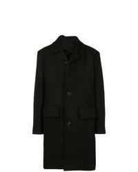 Abrigo largo negro de Raf Simons