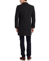 Abrigo largo negro de Tommy Hilfiger