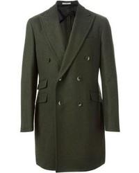 Abrigo largo verde oliva
