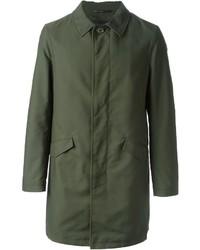 Abrigo largo verde oliva de Etro