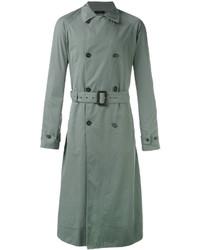 Abrigo largo verde oliva de Jil Sander