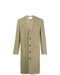 Abrigo largo verde oliva de Societe Anonyme