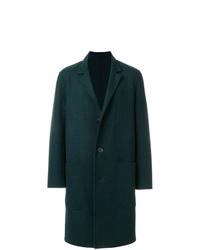 Abrigo largo verde oscuro de AMI Alexandre Mattiussi