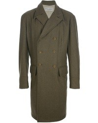 Abrigo largo verde oscuro de Dolce & Gabbana