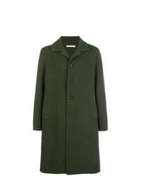 Abrigo largo verde oscuro de Massimo Alba