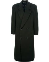 Abrigo largo verde oscuro de Pierre Cardin