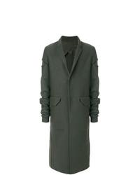Abrigo largo verde oscuro de Rick Owens