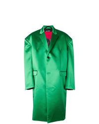 Abrigo largo verde de Raf Simons