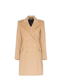 Abrigo marrón claro de Balmain