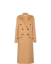 Abrigo marrón claro de Prada