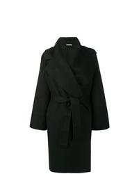 Abrigo negro de Bottega Veneta