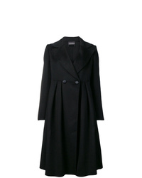 Abrigo negro de Emporio Armani