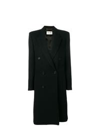 Abrigo negro de Saint Laurent