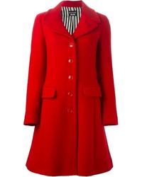 Abrigo rojo de Moschino