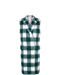 Abrigo sin mangas a cuadros en verde azulado de Calvin Klein 205W39nyc