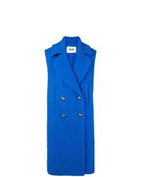 Abrigo sin mangas azul de MSGM