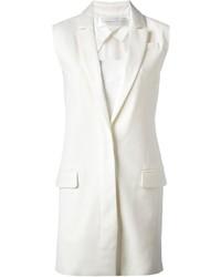 Abrigo sin mangas blanco de Victoria Beckham
