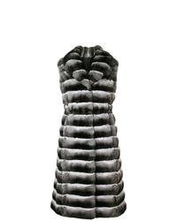 Abrigo sin mangas de pelo en gris oscuro de Liska
